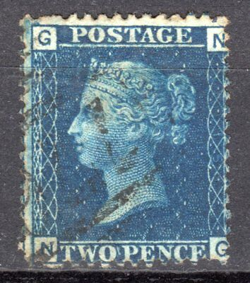 (44) VERY GOOD VERY LIGHTY USED SG46 QV 2d BLUE PLATE 15