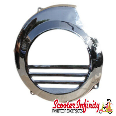 Flywheel Cowling/Cover (Chrome) Vespa P200 (Non Electric Start)
