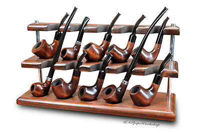 Wooden pipe stand/rack/holder/rest for tobacco pipes handmade by KAFpipeWorkshop