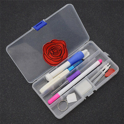 1 Set Magic Embroidery Pen Punch Needles Sewing Tools Plastic DIY Rose Flower
