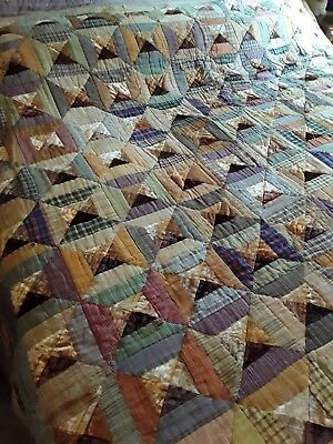 antique patchwork quilt huge king size 1890-1920 bed spread bed cover