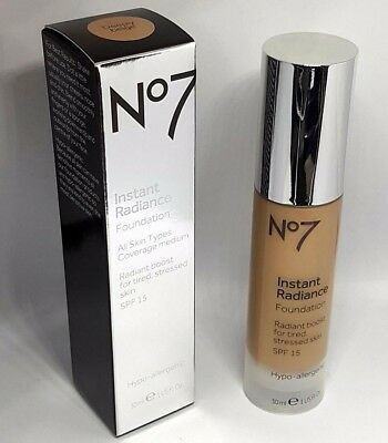 No7 Instant Radiance Foundation Coverage Medium All Skin Types 30ml DEEPLY BEIGE