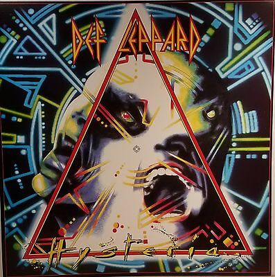 DEF LEPPARD 'Hysteria' Promo Album flat suitable for framing Mint! 1987