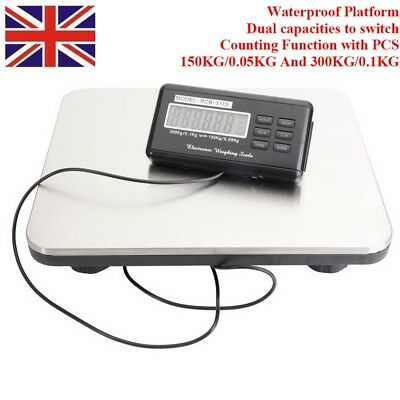 DIGITAL HEAVY DUTY 300kg Industrial Commercial Parcel Scales Weighing Pallet