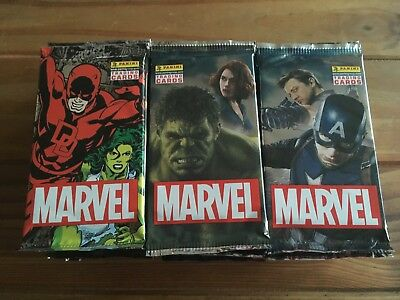 24 x NEW Marvel Heroes Trading Card Game Packets / Packs Official Panini Sealed