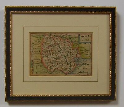 Herefordshire: antique map by Van den Keere, 1627-76