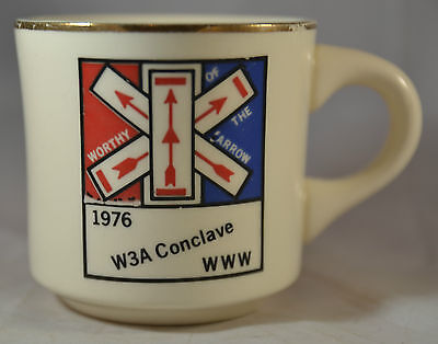 Boy Scouts of America Order of the Arrow 1976 W3A Conclave Coffee Mug BSA OA