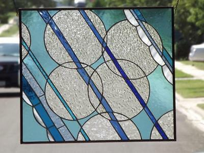 "SALE::: *BUBBLY* -Stained Glass Window Panel • 23 ¼ ""x 20 ¼"" (51.5x59.5 cm)"""
