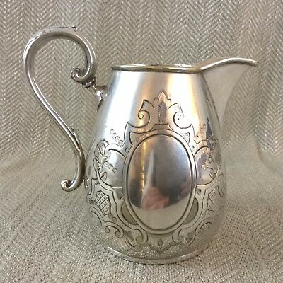 Antique Silver Plate Creamer Jug English Victorian Aesthetic
