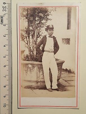 cdv siam royalty prince Francis Chit albumen 1863 no postcard antique photo Asia