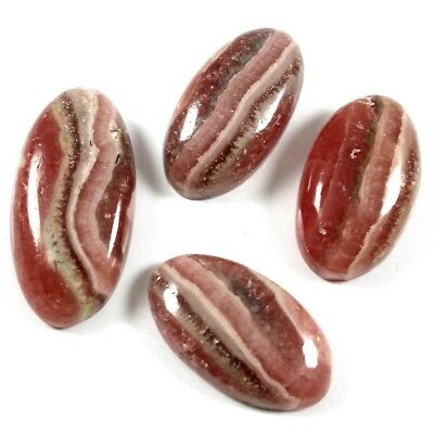 105.60cts Natural Rhodochrosite Gemstone Oval Loose Cabochon 4 Pcs Wholesale Lot