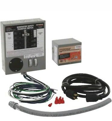 7500W 6-Circuit Generator Transfer Switch,No 31406CRK,  Reliance Controls Corp