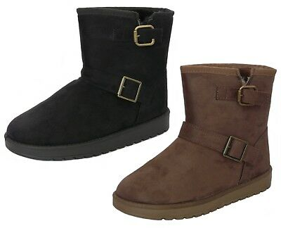 e395ac48deae CUSHION WALK WOMEN S Faux Suede Fur Lined Warm Winter Boots Size 3-8 ...