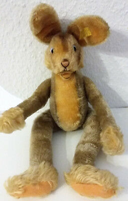STEIFF Hase Lulac 3140/43 ca. 1955-1962 43 cm Knopf + Fahne sehr guter Zustand