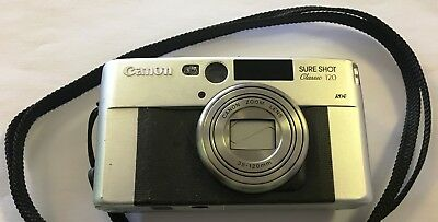 Canon Sure Shot Classic 120 35mm Compact Film Camera (X3)
