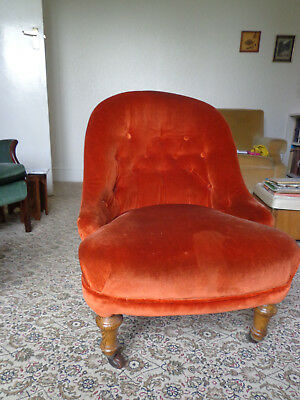 Vintage Button Backed Fireside Chair - Collection Only Liverpool 19