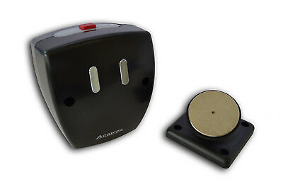Doorguard Agrippa Battery Magnetic Door Holder Learns Sound & Releases to Alarm