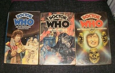 Doctor Who Hardbacks HB Underworld, The Mutants, Mandragora
