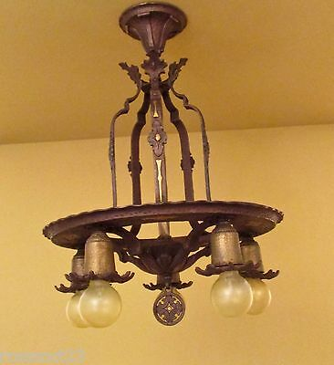 Vintage Lighting high quality 1920s Spanish Revival pendant