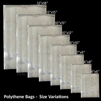 POLYTHENE CLEAR PLASTIC FOOD USE BAGS 100g