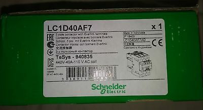 Schneider Electric LC1D40AF7 40A Contactor 110V coil NEW IN BOX