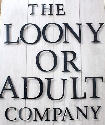 Charming Vintage Shop Sign Display Letters - Factory Alloy Architectural - Rare