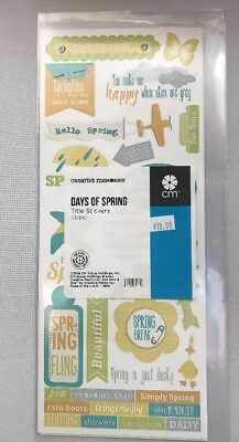 New in Pkg Creative Memories Days Of Spring Title Stickers 3-12x5 Sticker Sheets