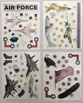 New in Pkg Creative Memories Air Force Stickers:4 Block Sticker Sheets