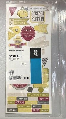 New in Pkg Creative Memories Days Of Fall Title Stickers 3-12x5 Sticker Sheets