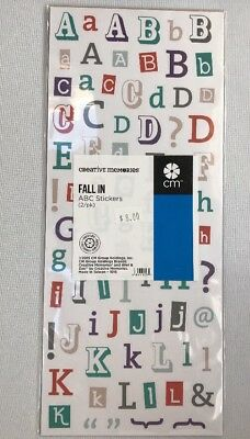 NEW in Pkg Creative Memories Fall In ABC/123  Designer Stickers- 2 sheets