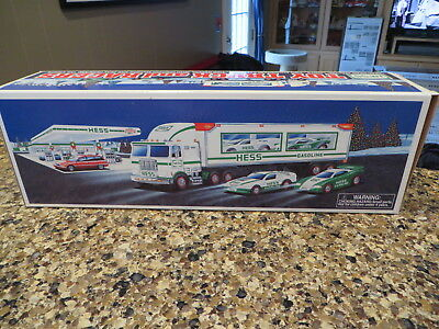 1997 Hess Toy Truck and Racers - New in Open Box
