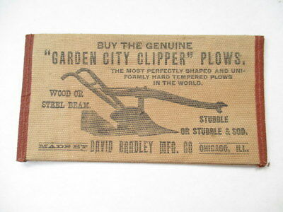 DAVID BRADLEY Antique Plow WALLET Advertising Farm Garden Tools Implements VTG