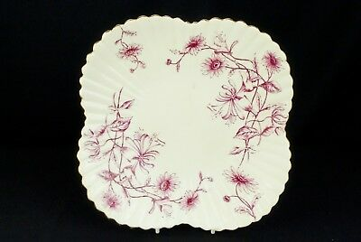 Antique Wileman Foley Pre-Shelley Alexandra Shape Honeysuckle R97379 22cm Plate