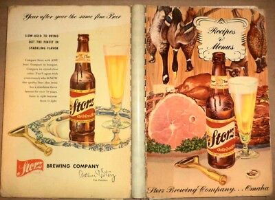 Vintage 1952 Storz Beer Omaha Nebraska Classic Advertising Cookbook Food Recipes