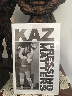 Bodybuilding Powerlifting Rare Bill Kazmaier Pressing Matters Booklet New 2018