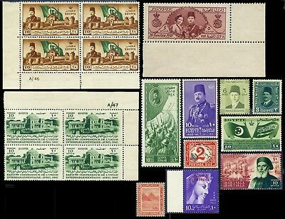 Egypt, selection of mostly unmounted mint and 27 good to fine used stamps