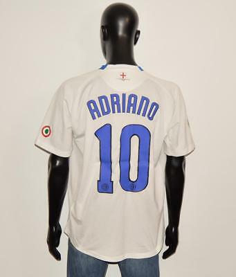 ADRIANO # 10 INTER MILAN  AWAY SHIRT NIKE Size XL