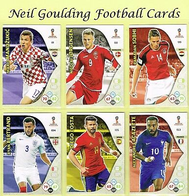 Panini WORLD CUP 2018 ☆ Team Mate ☆ Football Cards #73 to #153