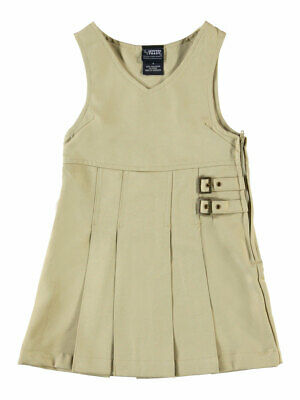 French Toast Big Girls' Double Buckle Tab Jumper (Sizes 7 - 16)
