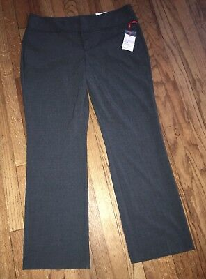 ELLE Curvy Through Hips And Thighs Bootcut Mid Rise Gray Casual Pants Size 16