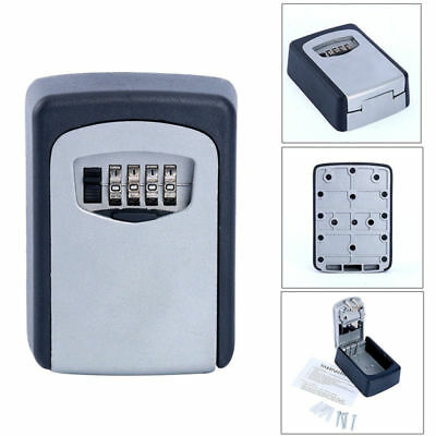 New Wall Mount Key Box & 4-Digit Combination Home Security Lock Safe Storage