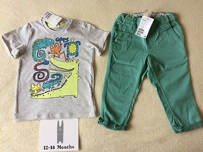 H&M Baby Boys Outfit 12-18 Months BNWT