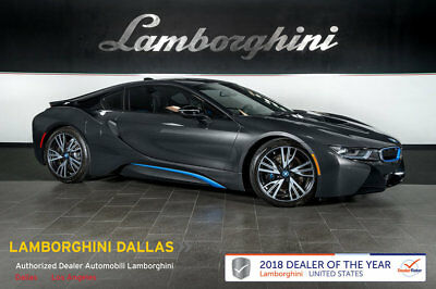 2014 BMW i8 Base Coupe 2-Door GAS/ELECTRIC+NAV+RR CAM+PWR SEATS+BLUETOOTH+CARBON FIBER+PURE IMPULSE WORLD