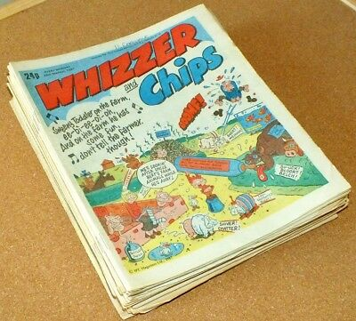 30 x Whizzer & Chips COMIC Huge Job Lot mid 1980's comics