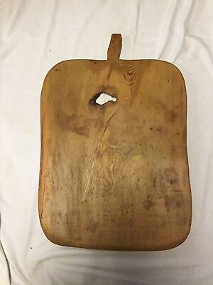 Early Primitive Large Rectangular Bread Board ~ Huge Knot Hole ~ PR417