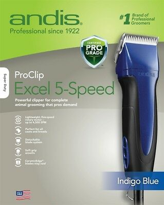 Andis Pro Clip Excel 5-Speed Blue (Used