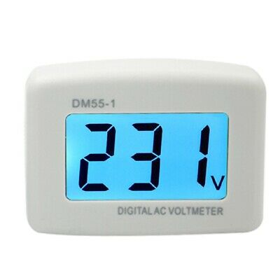 LCD Digital Voltage Tester and Voltmeter Volt Monitor - AC 80V 300V - AC Panel M