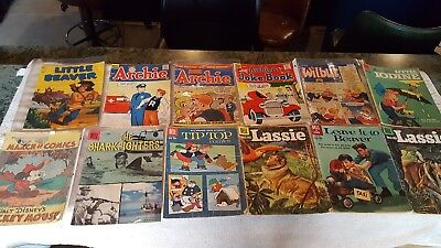 Lot of 35 Vintage Comics ghost stories Herbie Tip Top Archie Sad Sack Little Max