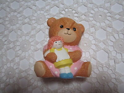 LUCY & ME~Enesco~Large Baby Girl with Doll Bank~1984~Original Tags~Great Gift!