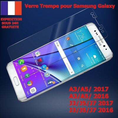 Vitre Protection Film Verre Trempe Samsung Galaxy A5/a3/j3/j5/j7 2016 2017